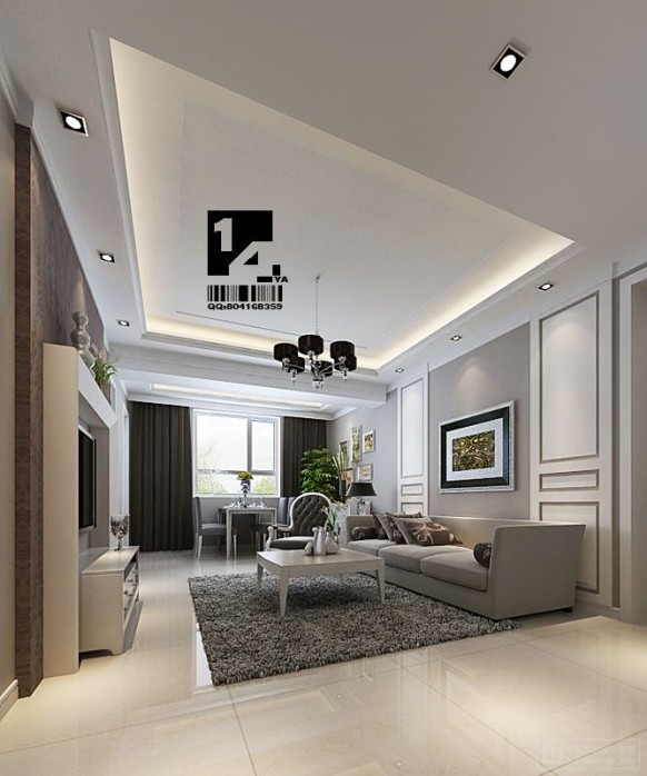 modern Chinese interior design living room
