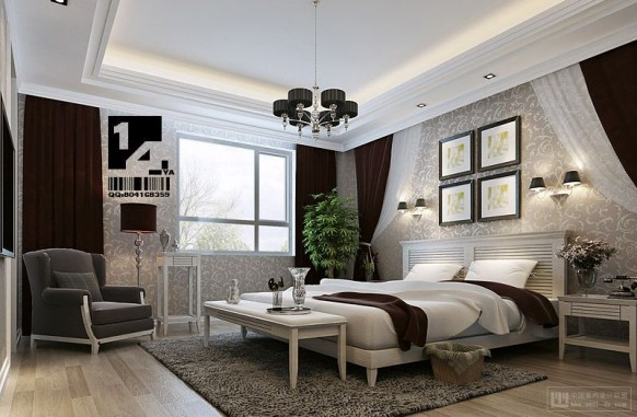 modern Chinese interior design bedroom