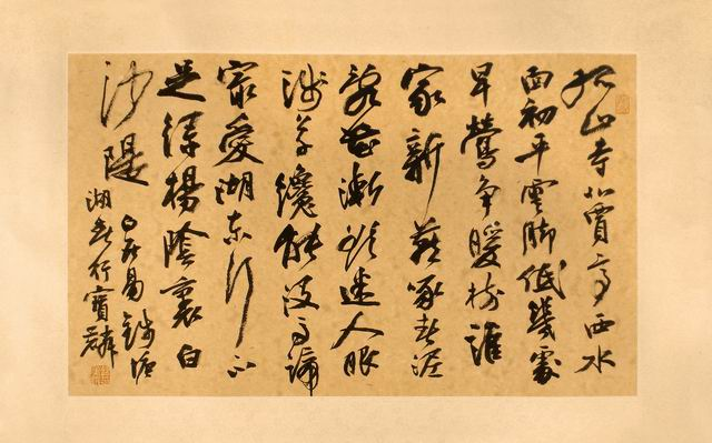 Chinese calligraphy Cao Bao Lin