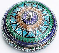 indian enamel trinket box