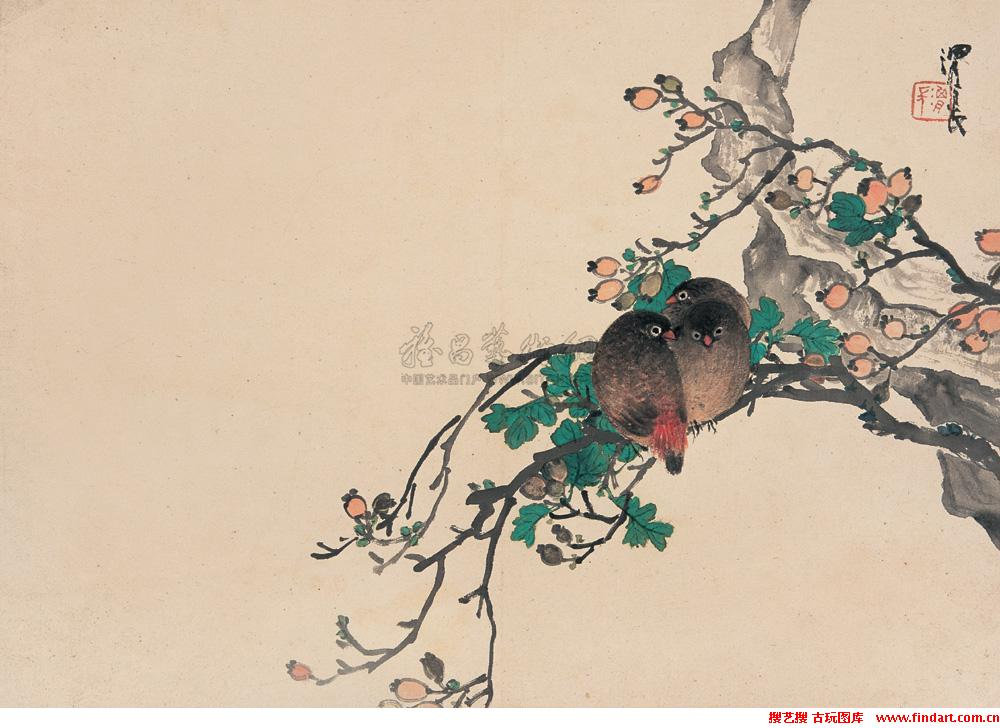 Ren Xiong Qing Dynasty painter painting 4