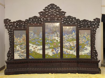 Chinese screen cloisonne palace museum